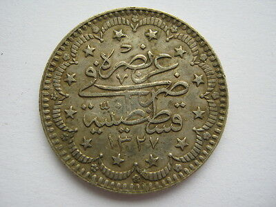 Turkey AH1327 year 1 silver 5 Kurush.