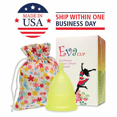 Anigan EvaCup (Made in USA - FDA Registered) Menstrual Cup - Chartreuse