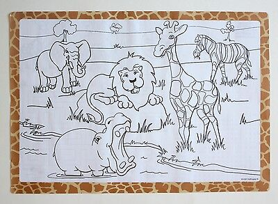 25 Pack Of Paper Placemats Jungle Design Free Shipping