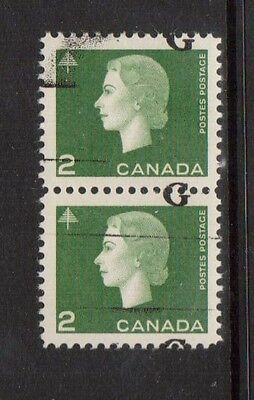Canada #O47iii XF/NH Badly Shifted G Variety Pair **With Certificate**