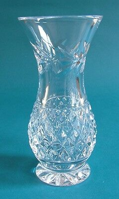 Galway Crystal Diamond and Laurel Cut Lead Crystal Bud Vase