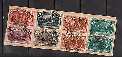 USA #236 #237 #238 (x2) #239 (x2) #240 & #241 Used On Cover Piece