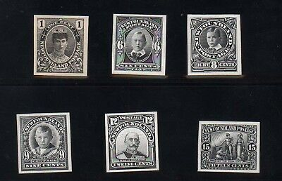 Newfoundland #104P  #114P XF Mint Proofs In Black