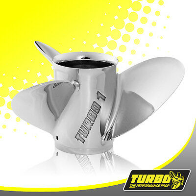 Turbo 1 13 1/4 x 17 Stainless Steel Prop For Mercury Mariner Searay 40 - 140HP