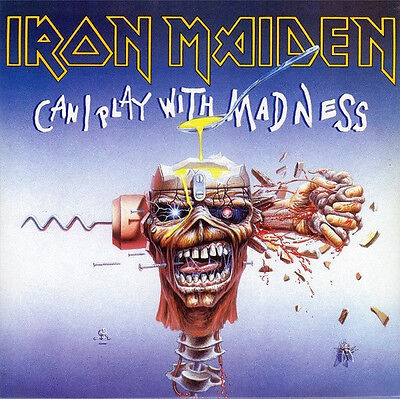 """Iron Maiden – Can I Play With Madness 7"""" Vinyl Single 45 RPM Rock"""