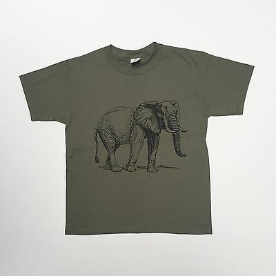 Kids Elephant t-shirt animal zoo print boys girls Unisex Tee