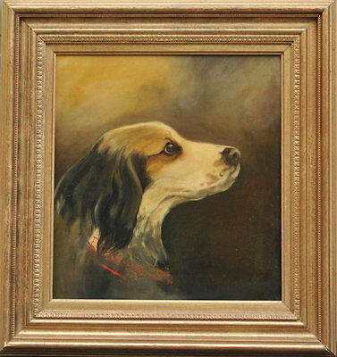 Antique Dog Painting - English Setter -1890s