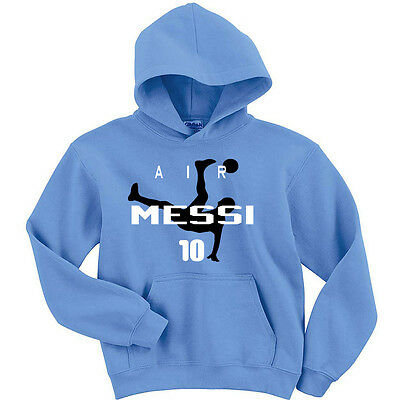 "Lionel Messi Argentina ""Air Messi"" Fifa Jersey sweatshirt Hoodie  Long Sleeve"