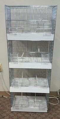 4 Stack Breeding Cage #dm421/4 With Plastic Pull Out Tray