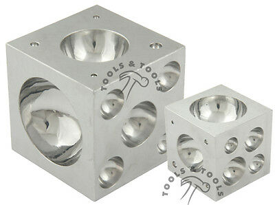 """Pro Quality 3"""" x 3"""" Solid Steel Doming Dapping Block Metal Shaping Bead Jewelry"""