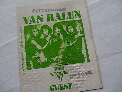 VAN HALEN Original 1980__UNUSED CONCERT BACKSTAGE PASS  (Ticket)