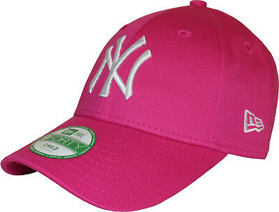 New Era 9Forty Girls NY Yankees Pink Adjustable Baseball Cap (Age 4 - 10 Years)