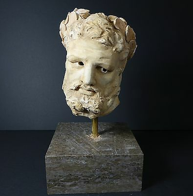 *Aphrodite Gallery* ANCIENT EASTERN ROMAN STUCCO HEAD OF A MAN, circa 200 A.D.
