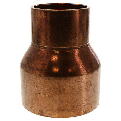 "1-1/2"" x 1"" Coupling Reducer C x C Sweat Ends COPPER PIPE FITTING"