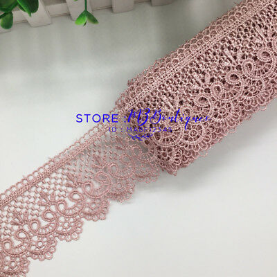 1 Yard Lace Trim Ribbon For Dress Skirt Embroidered DIY Sewing Handicraft FP85