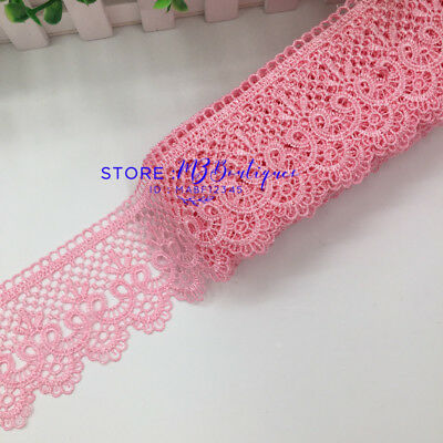 FP85E 1 Yards Lace Trim Ribbon For Dress Skirt Embroidered DIY Sewing Handicraft