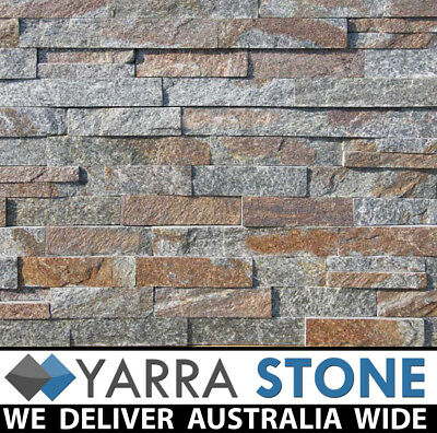 Stone Wall Cladding / Stacked Stone / Stackstone- Rusty Charcoal