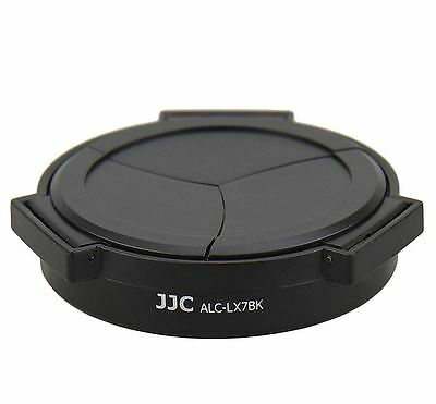 JJC Auto Lens Cap 37mm Filter Adapter Panasonic Lumix LX7 Leica D-Lux6 Black