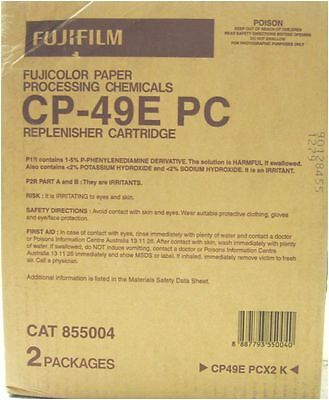 Genuine FujiFilm CP-49E PC Twin Refill Pack - (2x Cartridge Packs) Cat. 855004