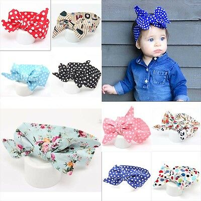 1Pcs Cute Kids Girl Baby Toddler Bow Headband Hair Band Accessories Headwear lot