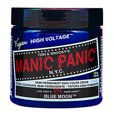 Manic Panic Classic Hair Dye Color Blue Moon Vegan 118ml Manic-Panic