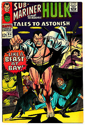 TALES TO ASTONISH #84 VG/FN INCREDIBLE HULK! SUBMARINER! 1966 SIlver-Age Classic