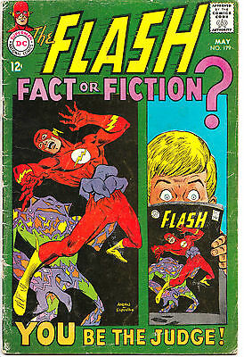 FLASH #179 (VG+) Fact of Fiction? You Be The Judge! Classic DC Silver-Age Issue