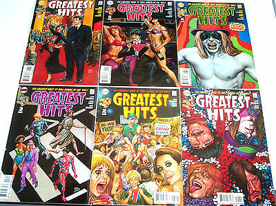 GREATEST HITS #1-6 VF+ Full Set! DC Vertigo 2008 Rock 'N' Roll Heroes! Beatles!