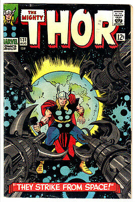 THE MIGHTY THOR #131 (FN) HERCULES! ODIN! JANE FOSTER! Jack Kirby Art! LQQK!