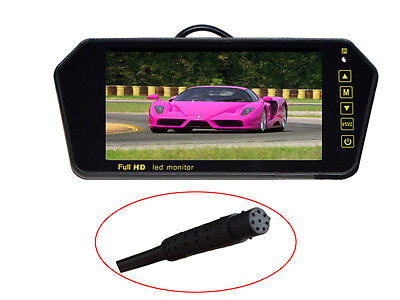HD 800x480 7 Inch 16:9 TFT LCD Color Wide Screen Car Rear View Mirror Monitor