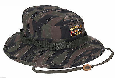 Boonie Vietnam Veteran TIGER Deluxe Custom Embroidered Military Style Hat 5932