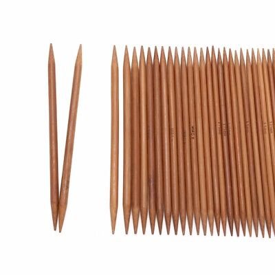 55Pcs 5'' Double Pointed Bamboo Carbonized Knitting Needles 11 Sizes in 1 Set