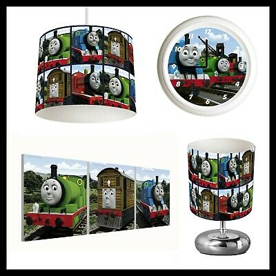 THOMAS THE TANK ENGINE - Bedroom Bundle Lampshade, Lamp, Clock, Canvas Prints