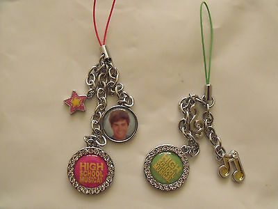 2 x High School Musical Phone Charms, Keyring MP3 Disney Accessories