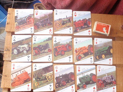 14  Playing Cards Featuring Classic tractors, Farmall, John Deere,