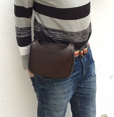 Brand New Model Leather Cartridge Bag With Belt Loop Fitted Easy Access.Loopbag