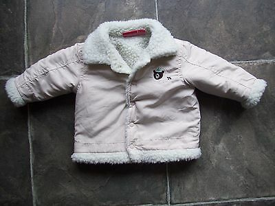 Baby Boy's Sprout Cream Fleece Lined Jacket/Coat Size 00 EUC