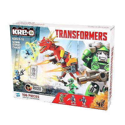 Hasbro KRE-O A6950 TRANSFORMERS Dino Force SCORN Street Chase Bausteine-Set