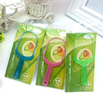 5Pcs Plastic Tongue Tounge Cleaner & Scraper Dental Care Oral Hygiene Mouth Hot
