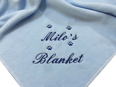 Personalised Dog / Cat Pet Blanket Choice Of Colours