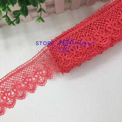 FP85 1 Yard Lace Trim Ribbon For Dress Skirt Embroidered DIY Sewing Handicraft