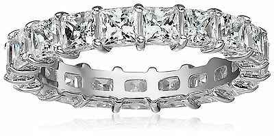3.2ctw  Eternity Band Ring princes. Crystal Carbon Labs.Better than Moissanite