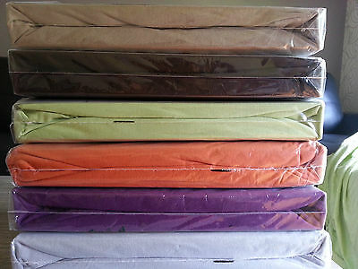 Queen Bed Fitted Sheets -Soft Jersey Knitted 100% cotton( up to 40cm ) 21 colors