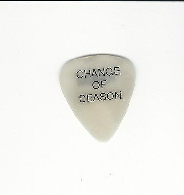 Hall & Oats Change of Season Tour Guitar Pick Clear White