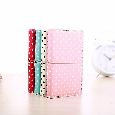 PU Leather Pocket Colorful Dot Notebook String Diary Journal Note Memo Book  #Y5