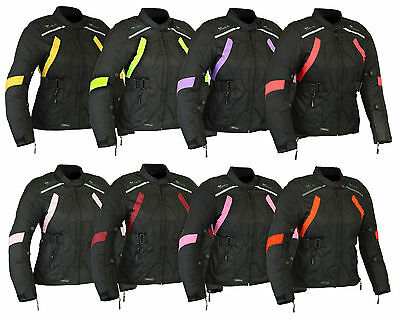 Womens RIDEX Motorbike Jacket Ladies Cordura Biker Motorcycle Waterproof