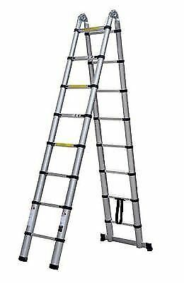 Multi Use Aluminium Folding A Frame Telescopic Safety Ladders Extendable Ladders