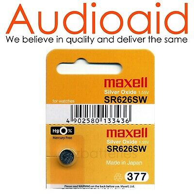 1Pc Sr626Sw (377) Genuine Maxell Silver Oxide Battery - Made In Japan (Not Fake)