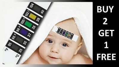 FOREHEAD THERMOMETER STRIP FEVER COLD BABY CHILD ADULT   Buy 2 Get 1 FREE