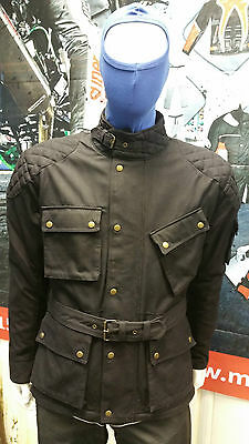 Double Waxed Motorcycle Motorbike Ce Tested Pro Cotton Waxed Climate Tech Jacket